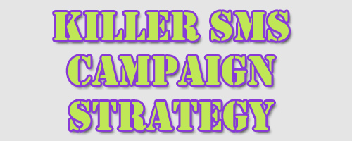 Killer SMS Campaign Strategy